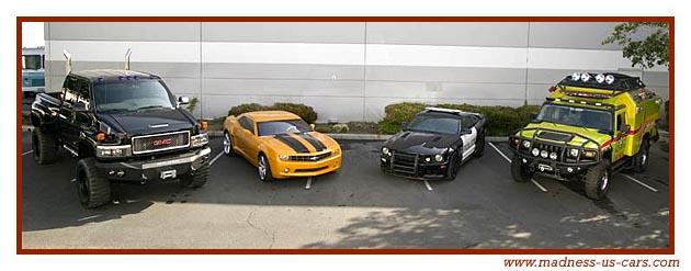 Une Chevrolet Camaro Et Une Saleen Dans Le Film Transformers